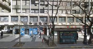 Avenida de Mayo 1316, donde ocurrió el supuesto encuentro que devino en robo.