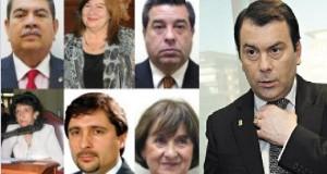 Los Diputados Z: Manuel Juárez, Norma Abdala de Matarazzo, José Herrera, Graciela Navarro, Cristian Oliva y Mirta Pastoriza.