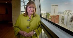 Susana Malcorra, en una venta de su despacho.