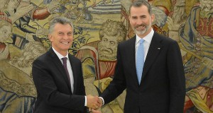 Mauricio Macri y Felipe VI.